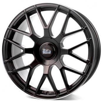 MAM GT1 8x18 Et 30 5x112/100 Matt Black Lip Polish (Satzpreis)