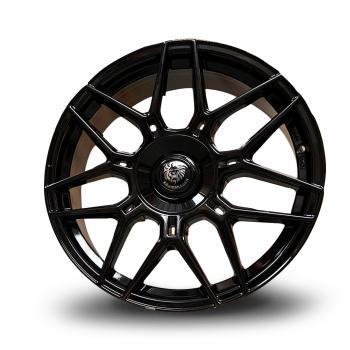 Köningsräder KR2 8,5x19 5x112/120 ET45 | schwarz glänzend (Satzpreis)